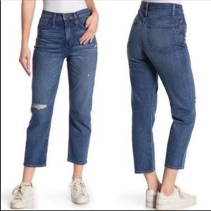 Madewell blue Cropped Classic Straight Jeans